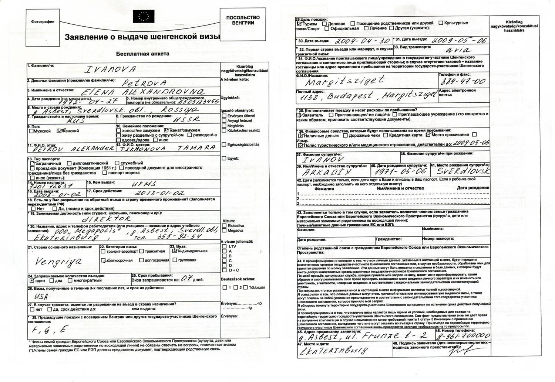 Заявление на визу в германию бланк скачать